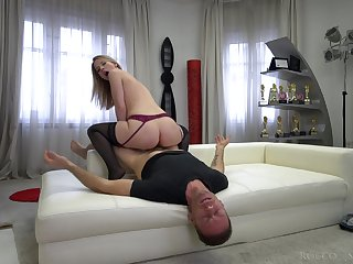 Kiara Knight spreads her tight asshole for a fat cock