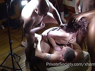 The Private Society Gangbang Outdo For Lonely Housewives