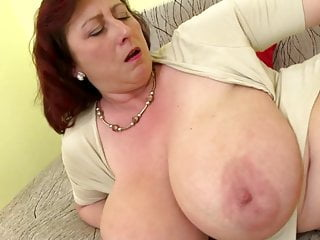 Mature queen jocular mater with big tits and hungry cunt