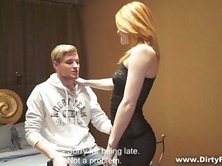 Slutty student Renata gives a blowjob and gets will not hear of pussy fucked for initial
