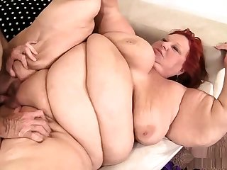 Fat bbw granny pussy fucked and slang get enough