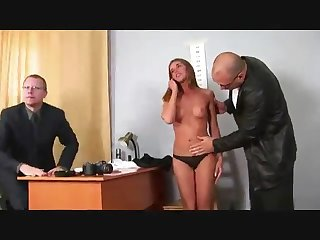 A gilt hair toddler at a porn audition