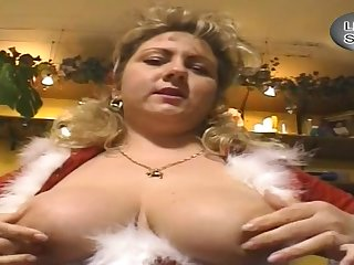 German Big Spectacular Woman Whore Dresses Up As A Santa Cla - thick
