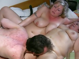 Beamy Granny Having Pansy Sex
