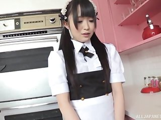 Horny guy asks his stunning maid Kirari Sena to satisfy his needs