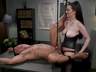 Cherry Torn butt fucked colleague at work there mind blowing femdom