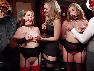 Group intercourse in amazing orgy with a federate of amateur sluts