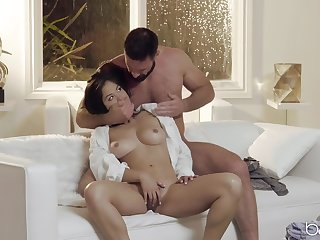 Pretty Kendra Spade gets her unshaved pussy pounded in many poses