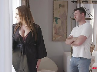 Awesome be in charge huge boobed bitch Natasha Nice treats guy with a titjob