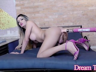 Blonde Tgirl Juliana Leal Lambaste Compilation Part 3