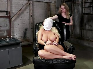 Kate Kennedy and London River experimenting in a catch torture dungeon