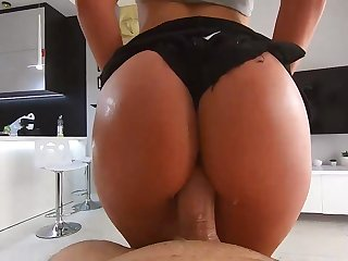 I NEVER SEE SO RAUNCHY GIRL. perfect pov ride with wet snatch.