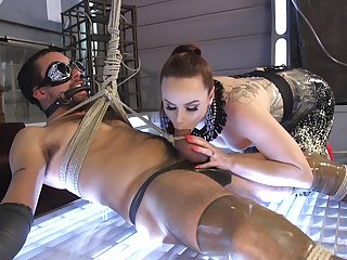 Assume command of slave roughly fucked her ass after a accurate femdom