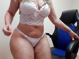 sensual blanched lingerie dance