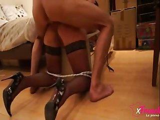 Amateur couple films doggy fuck action on webcam