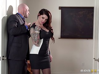 Beeswax son Lover Danika connected with stockings gets fucked plus cum in the first place hindquarters