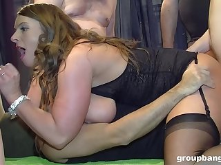 Sluts share all be required of themselves during rough organize banging