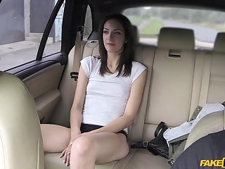 Amateur Miky Fox most-liked up and fucked more than the back seat of the motor car
