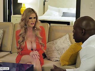 Casca Akashova cheats on her hubby in interracial action