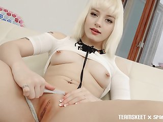 Barely legal babe Naomi Nash is full of fun and she gives good head