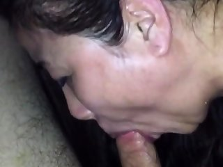 Cum through nose of chinese milf