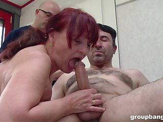 Chubby mature loads billions of cock in say no to old holes