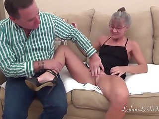 Exploitive mature woman, Leilani Lei and will not hear of horny partner, Joe Hardick are having a wild carnal knowledge session