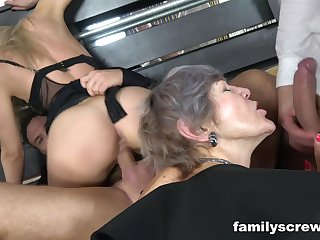 Horny granny takes part in sexual congress orgy