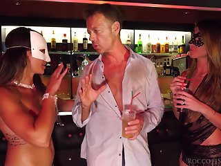 The landowners man picks up two girls in the club and things turn sexual fast