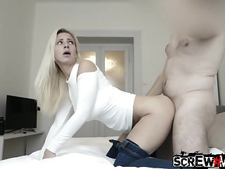 Taking blond babe Nataly is picked up and fucked in hot POV flick