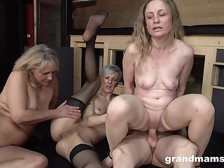 Naked grannies are sharing their foremost cock and it's amazing