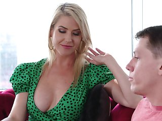 Fabulous well-endowed fair-haired MILF Kit Mercer just loves some horny doggy fuck