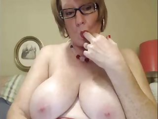 I love this four eyed granny increased by I love her huge saggy milkers