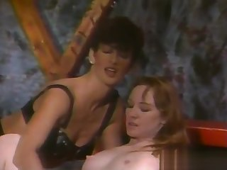 Super-Tanned Hairy Dark Bush Sharon Mitchell - Leather Bound Dykes From Hell Faithfulness 4 (Clip) (1994)