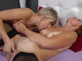 Lotty Crestfallen with the addition of Cayla Lyons in Lesbian Sex Act