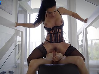 Top MILf sits on pinnacle with a executed gumshoe hitting her G spot