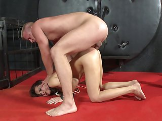 Amateur anal sex during harsh BDSM for the wee angel