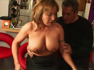 Seasoned snatch Jazebel with pierced nipples fucked unconnected with a huge wang