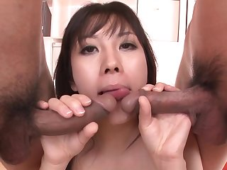 An Blow Job And Shagging Gets Hina Tokisaka Cream Filled By Two