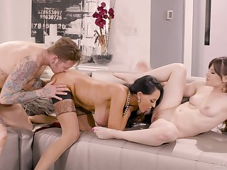 Aroused battalion share the dick in some of the best XXX scenes