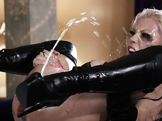 Squirt god Barbie Sins getting thoroughly fucked