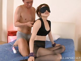 Smooth fucking on eradicate affect bed ends with cum on belly for Karin Aizawa