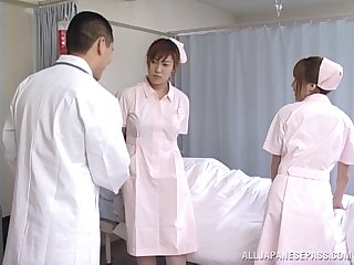 Amateur video with Japanese nurse Mai Hagiwara giving her pussy