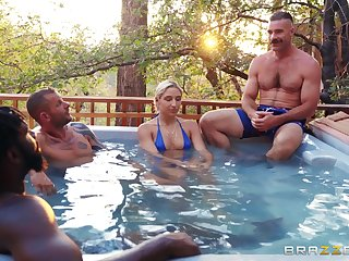 Wild outdoors MMF threesome with Latina pornstar Abella Danger