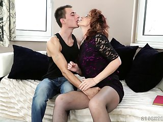 Nasty younger guy loves fucking his mature neighbor Mayna May
