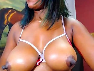 Broad in the beam Norwegian ebony on webcam