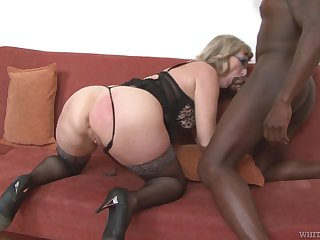 Mature housewife with big takings Aja C is purchase riding and sucking fat BBC