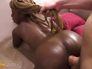 Black ghetto girl fucked hard by hung white guy