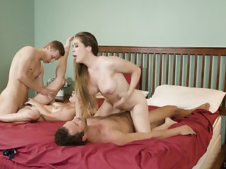 Insolent battalion love swapping their lovers in a hot foursome