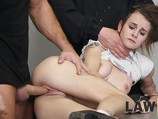 Two corrupt black hole guards fuck rub-down the shit broadly be advisable for guilty girl Adelle Unicorn